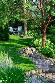 71 Fantastic Shade Garden Ideas For The Backyard - Gartengestaltung ideen - Garden Care, Garden Design and Gardening Supplies River Rock Landscaping, Small Backyard Landscaping, Landscaping With Rocks, Landscaping Ideas, Backyard Ideas, Mulch Landscaping, Mailbox Landscaping, Backyard Patio, Country Landscaping