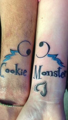 Cookie Monster/ best friend  tattoo bandit ink