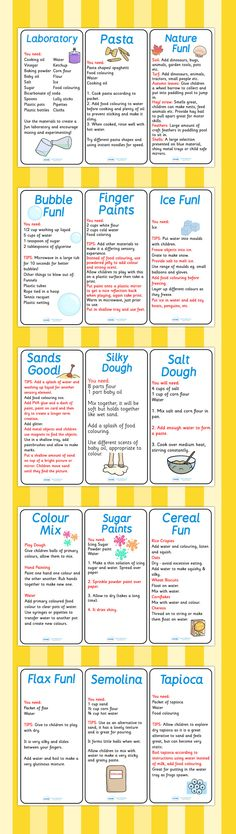These sensory activity cards are perfect for when you want to encourage sensory play with your children. Great ideas and tips for you to try out to get your children involved and active! Preschool Science, Science Activities, Activities For Kids, Eyfs Activities, Science Experiments, Baby Sensory, Sensory Bins, Sensory Table, Sensory Activities For Autism