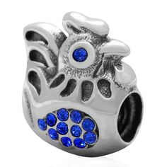 Babao Jewelry Chicken Sapphire CZ Crystals 925 Sterling Silver Bead fits Pandora Style European Charm Bracelets >>> Remarkable product available now. : Charms and Charm Bracelets
