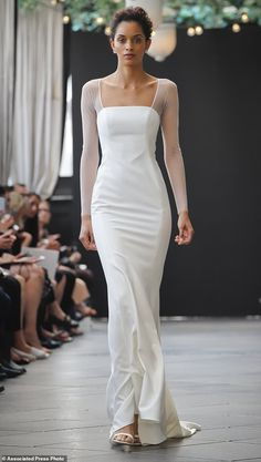 Bridal fashion from the Amsale collection is modeled during Bridal Fashion Week, Friday Ap...