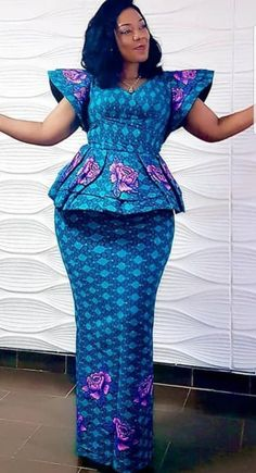Check Out These Amazing womens african fashion 3453 Latest African Fashion Dresses, African Dresses For Women, African Print Fashion, Africa Fashion, African Attire, Dress Fashion, Women's Fashion, Ankara Skirt And Blouse, Lace Skirt And Blouse