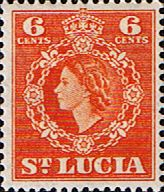 St Lucia 1953 Queen Elizabeth II SG 177 Fine Used Scott 162 Other West Indies Stamps HERE