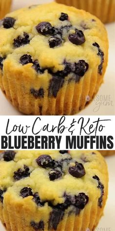 Blueberry Muffins From Scratch, Paleo Blueberry Muffins, Blue Berry Muffins, Blueberries Muffins, Low Carb Desserts, Low Carb Recipes, Dessert Recipes, Dinner Recipes, Paleo Muffin Recipes