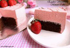 Eggless Strawberry Mousse Cake