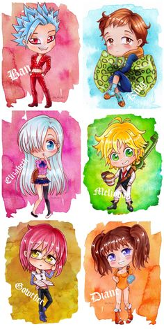 Hey, sorry to bore you with more Seven Deadly Sins fan art, but just thought I would group the chibis I have done together for one last post. Onto a realistic portrait project now