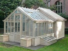 Greenhouse with a tool storage shed or chicken coop off the back! Perfect for urban chicken coops, - #Garden