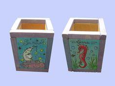 Portalápices Infantil Sorting, Planter Pots, Geek Crafts, Drawers, Hand Made, Wood