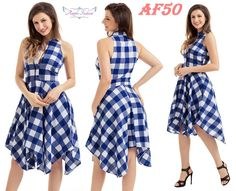 Cheap dress robe, Buy Quality robe femme directly from China robe fashion Suppliers: Women plaid dresses Fashion Casual Summer Sleeveless Office Ladies Blue/Black White Checks Flared Shirt Dress Robes Femme Dress Robes, Shirt Dress, Summer Dresses 2017, Office Ladies, Plaid Dress, Retro Dress, Cheap Clothes, Preppy Style, Fashion Dresses
