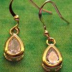Gold-plated White Topaz Earrings