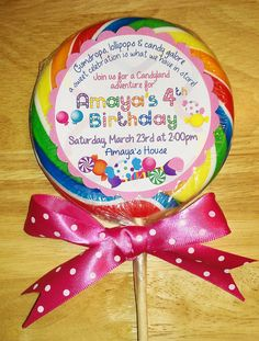 Amaya's Candyland birthday theme is meant to be! Look what I found on Etsy!