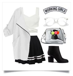 """Black&White"" by chlomolyn on Polyvore featuring Rebecca Minkoff, Alexander Wang and Working Girls"