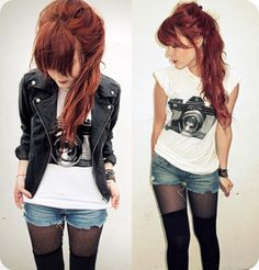 I love the badass-ness of her whole outfit/attitude. Also, wish I could get my hair that color (and to stay that way).