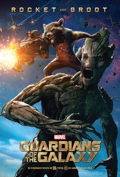 Rocket & Groot Character Poster