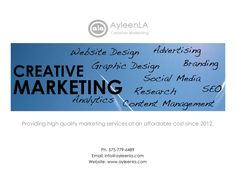 AyleenLACreativeMarketing by AyleenLA via slideshare