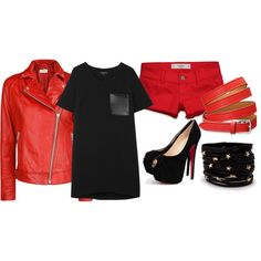 """""""Black and Red"""" by aura-aureta on Polyvore"""