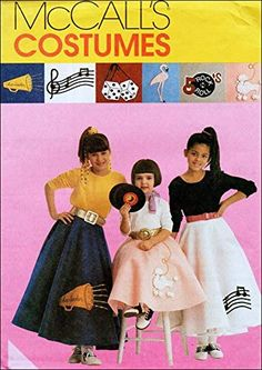 Girls Petticoat, Costume Patterns, Costume Ideas, Sewing Patterns For Kids, Fashion Sewing, Girl Costumes, Vintage Skirt, Applique Designs, Vintage Fashion