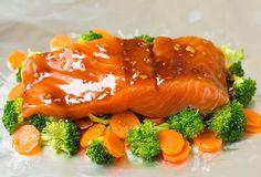 Honey Teriyaki Salmon and Veggies in Foil | Cooking Classy