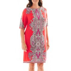 Studio 1® 3/4-Sleeve Print Dress - Plus   found at @JCPenney