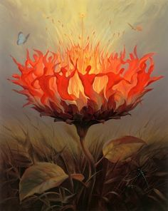 Community of those in pain. The fire flower. RSD CRPS support http://facebook.com/living.with.rsd