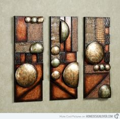 15 Modern and Contemporary Abstract Metal Wall Art Sculptures