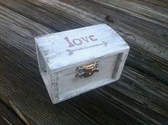 Rustic wedding ring box nautical beach side wedding by PineNsign, $29.95