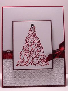 Clean Snow Swirled by arlybeans - Cards and Paper Crafts at Splitcoaststampers