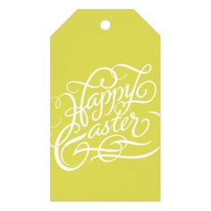 Happy easter bunny custom gift tags pack of gift tags gift tags chartreuse happy easter easter gift tag pack of gift tags negle Gallery