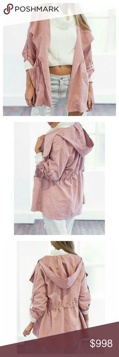 COMING SOON  Dusty Rose Layering Parka Lightweight and easy to wear, this Parka is the perfect addition for layering your Fall wardrobe!  ⚬Dusty Rose  ⚬Soft Cotton/Poly Blend ⚬Hooded ⚬Lightweight ⚬Fall, Winter, Spring ⚬Waist Drawstring ⚬See Last Photo for Measurements ⚬Will be available in M, L, XL Boutique Jackets & Coats