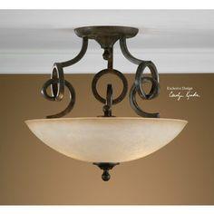 uttermost legato, semi flush mount 22217. lighting fixtures 10% off coupon