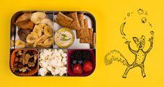 Knabbelmix, lekker erbij: crackertjes met verse houmous #gezondelunchtrommel #yourtips #goodfood