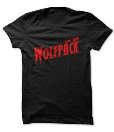 cool  One Man Wolf Pack Check more at http://plaintee.top/hot-tshirts/lower-cost-one-man-wolf-pack.html