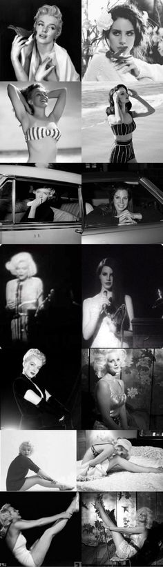 Lana Del Rey and Marilyn Monroe photo similarities #LDR