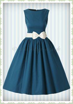0c11028a0a2e9a Lindy Bop 50er Jahre Rockabilly Petticoat Kleid - Audrey - Dunkles Petrol.  Vintage Vogue