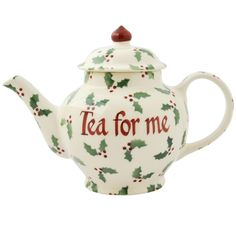 Personalised Little Holly Small Teapot 2016