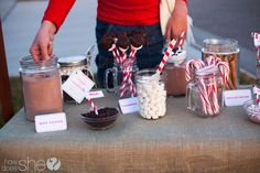 Hot Chocolate  Bar ideas with FREE Printables!