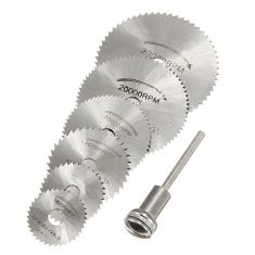 Description:Drillpro HSS Circular Saw Blade Cutting Discs Wheel Set For Rotary ToolSpecification:Material: HSSColor: SliverMaximum RPM: from strong HSS high-speed-steel, durable and firm.Suitable for cutting hard materials like wood, plastic, laminat Circular Saw Reviews, Best Circular Saw, Circular Saw Blades, Serra Circular, Dremel Tool, Dremel 4000, Dremel Bits, Power Tool Accessories, Dremel Accessories
