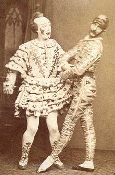 The Payne Brothers as Clown and Harlequin, c. 1875