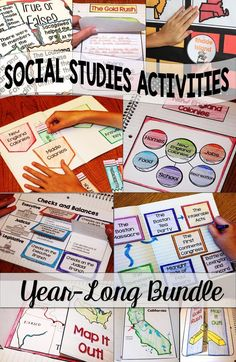 Social Studies Interactive Notebooks Mini Units And Activities Mega Bundle