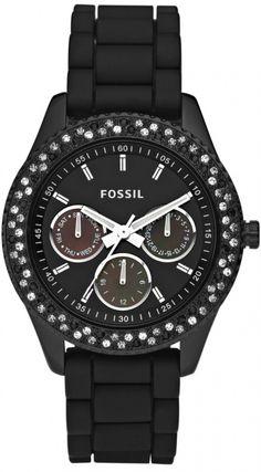 #Fossil #Watch , Fossil Women's ES2896 Stella Black Dial Watch
