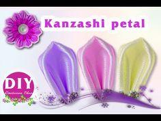 DIY.Petal kanzashi.Kanzashi  tutoria.