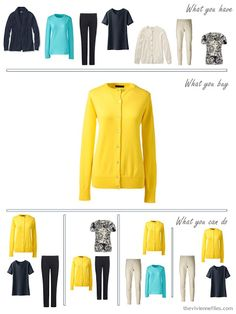 The Vivienne Files: Navy, Beige Turquoise and Yellow: How to Build a Wardrobe One Piece at a Time
