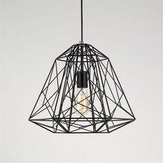 InTheHouse Retro Industrial Black Iron Cage Ceiling Light Pendant Lamp Vintage Edison Style: Amazon.co.uk: Lighting