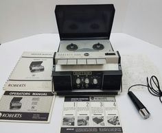 Rheem Roberts 610X 1970 4 Track Solid State Portable Tape Recorder #Roberts