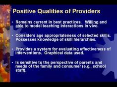 Identifying Effective Autism Providers