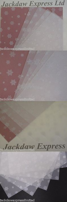 Stripes A4 White Patterned Vellum 5 sheets