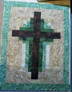 Beautiful quilted wall hanging cross