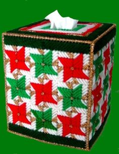 This item is unavailable Plastic Canvas Box Patterns, Plastic Canvas Tissue Boxes, Plastic Canvas Crafts, Christmas Coasters, Pinwheel Quilt, Plastic Canvas Christmas, Needlepoint Patterns, Beaded Animals, Tissue Box Covers