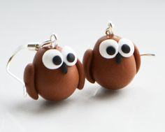 Fimo Owl Earrings .Could also use for cake decorating with fondant