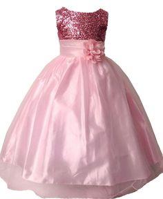 Flower Girls Princess Pageant Dress Wedding Bridesmaid Party Communion Tutu Rose